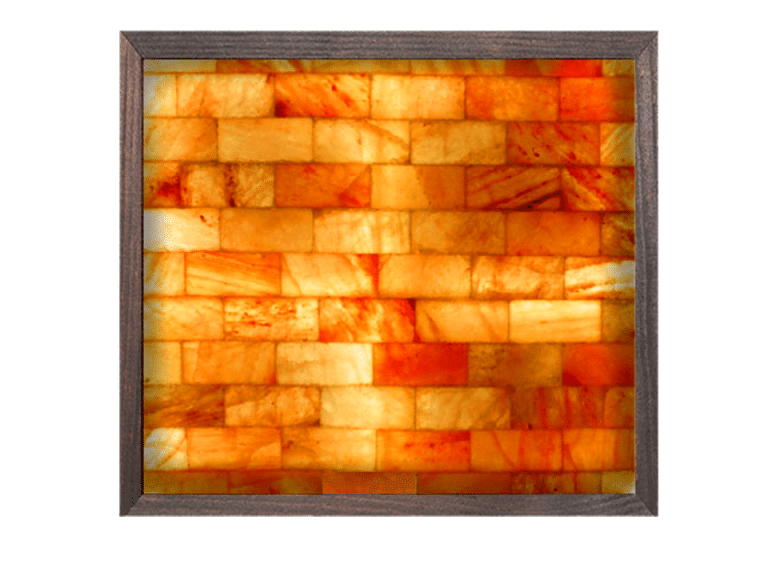 4' x 4' Himalayan Salt Brick Wall Panel