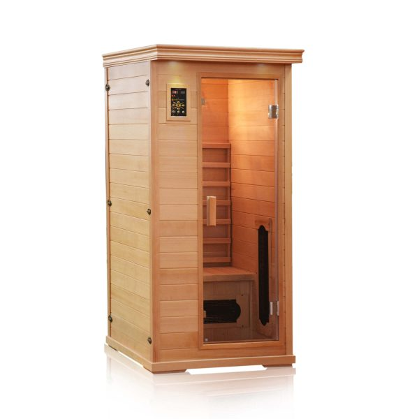 One Person Ceramic Tube Infrared Sauna-Full Spectrum with Low EMF