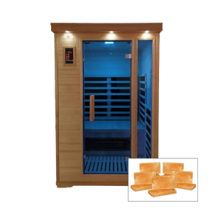 Two Person Salt Cabin with HaloGenerator plus Full Spectrum Sauna