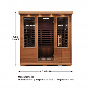 CARBON FIBER INFRARED SAUNA – 4 PERSON – FREE SHIPPING