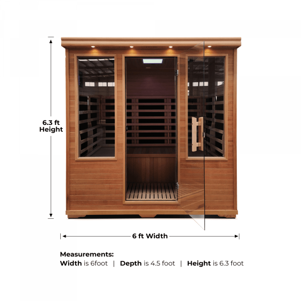Four Person Carbon Fiber Infrared Sauna with Low EMF