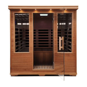 Four Person Carbon Fiber Full Spectrum Infrared Sauna with low EMF.
