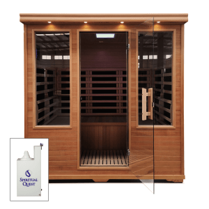 Four Person Salt Cabin with HaloGenerator and Carbon Fiber Full Spectrum Infrared Sauna with low EMF.