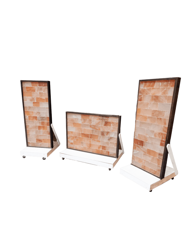 Pedestal Base for Two and Four Foot Wide Salt Wall Panels-White