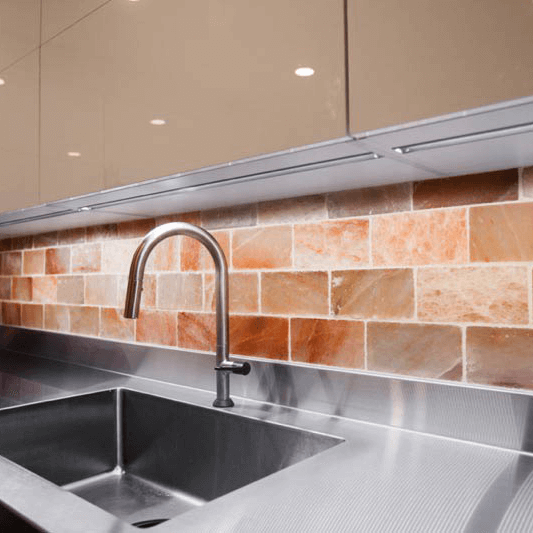 Custom Salt Wall in Kitchen