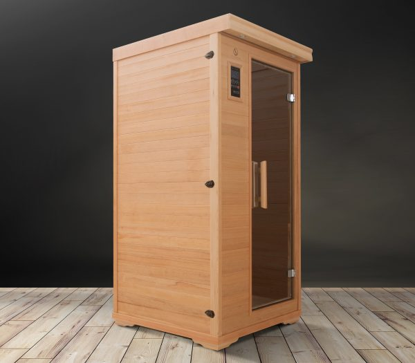 One Person Ceramic Tube Infrared Sauna with Full Spectrum LED