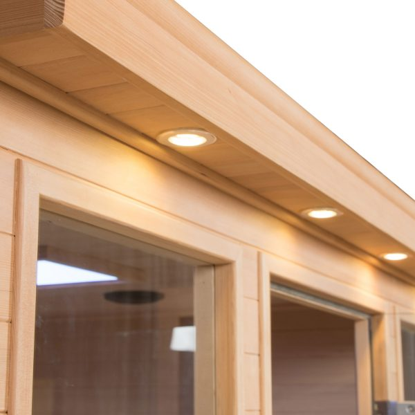 Four Person Sauna Cabinet Exterior Lights