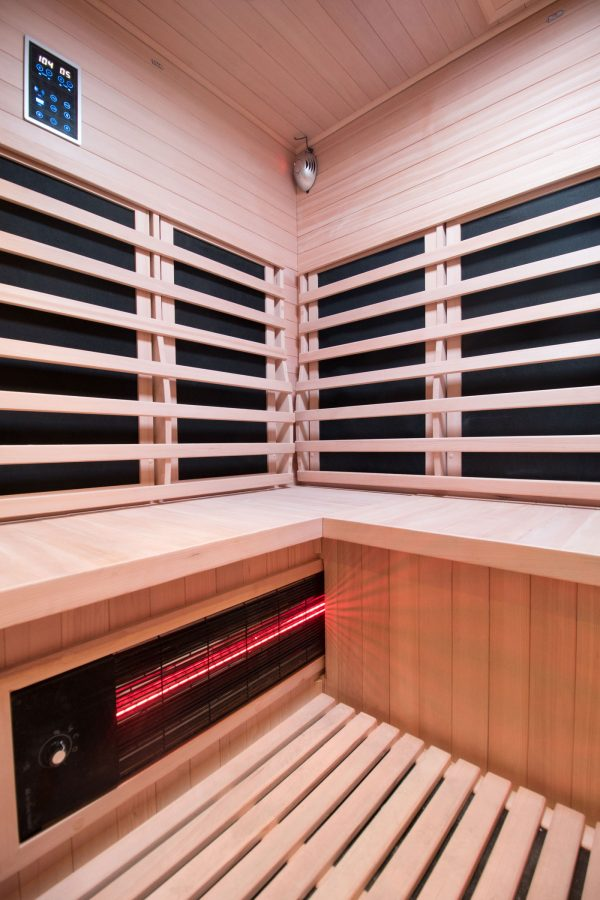 Four Person Carbon Fiber Sauna Cabinet Interior