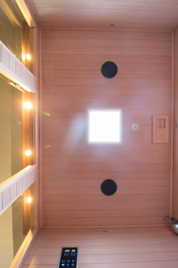 Four Person Carbon Fiber Full Spectrum Infrared Sauna Top (looking up from inside)