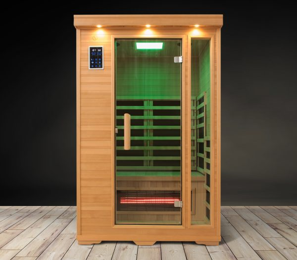 Two Person Green Carbon Fiber Infrared Sauna