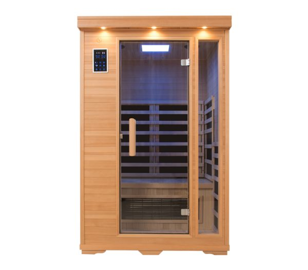 Two Person Blue Carbon Fiber Infrared Sauna