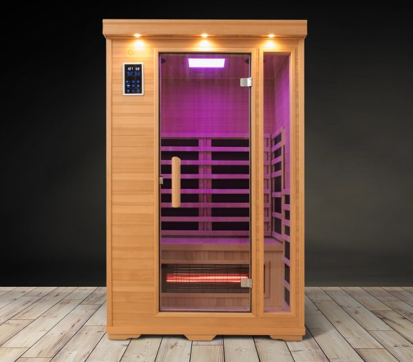 Two Person Magenta Carbon Fiber Infrared Sauna